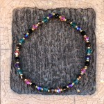 Swarovski armbånd grøn pink
