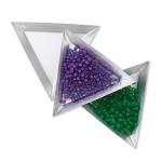 trekantede skåle til perler