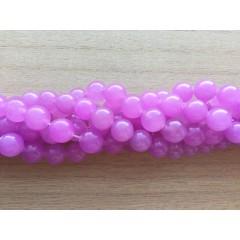 Farvet jade, lys violet rund 10mm, hel streng