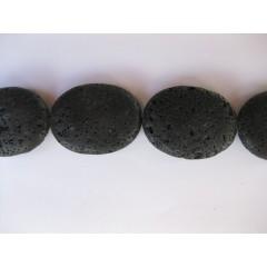 Lava, 30x40mm ovaler, hel streng