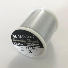Miyuki nylon sytråd 0,25mm, sølv 50m