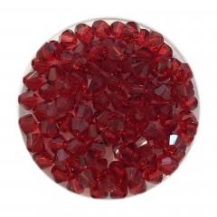 Swarovski crystal 4mm bicone, Scarlet, 10 stk