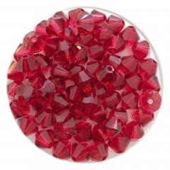 Swarovski® crystal 5mm bicone, Scarlet, 6 stk