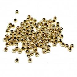 2,5mm 18 karat forgyldte perler, 3g