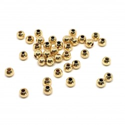 4mm 18 karat forgyldte perler, 3g