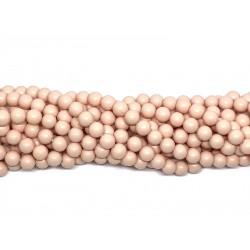 Shell pearl, fersken mat 6mm, hel streng