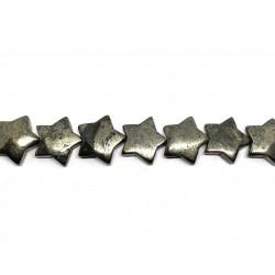 Pyrit, stjerne 20mm, hel streng