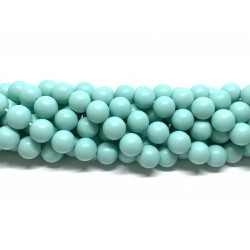 Frosted shell pearl, mint 10mm, hel streng