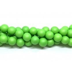 Frosted shell pearl, neon grøn 10mm, hel streng