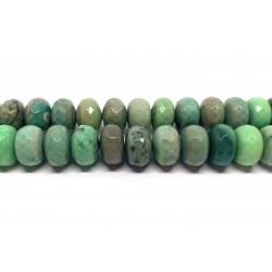 Green grass agat, facetslebne rondeller 8x15mm, hel streng
