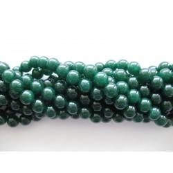 Emerald grøn jade, rund 8mm, hel streng