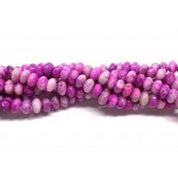Rubin crazy lace agat, 5x8mm rondeller, hel streng