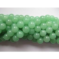Lys grøn jade, rund 12mm, hel streng