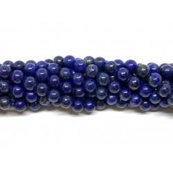 Lapis Lazuli, rund 6mm, hel streng