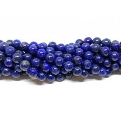 Lapis Lazuli, rund 8mm, hel streng