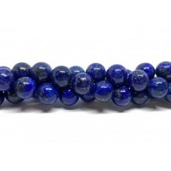 Lapis Lazuli, rund 10mm, hel streng