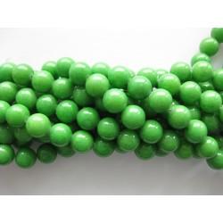 Grøn mashan jade, rund 12mm, hel streng