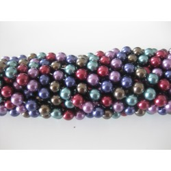 Shell pearl, 6mm mix, hel streng