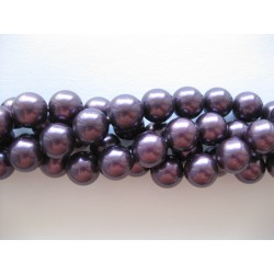 Shell pearl, bordeaux-lilla 10mm, hel streng