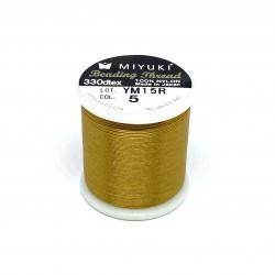 Miyuki nylon sytråd 0,25mm, guld 50m