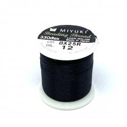 Miyuki nylon sytråd 0,25mm, sort 50m