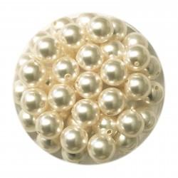 Swarovski crystal pearl, White, 6mm rund