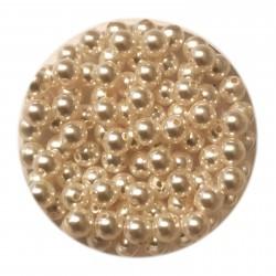 Swarovski crystal pearl, White, 4mm rund, 10 stk