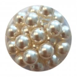 Swarovski crystal pearl, White, 8mm rund