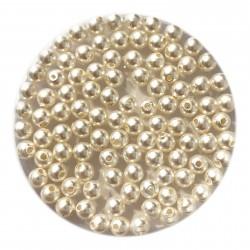 Swarovski crystal pearl, White, 3mm rund, 10 stk