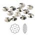 Swarovski® crystal, 8mm marguerite lochrose flower, Crystal metallic light gold, foil back